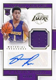 2015-16 PANINI NATIONAL TREASURES Jersey Auto D'Angelo Russell 【99枚限定】Rookie Star RS78様