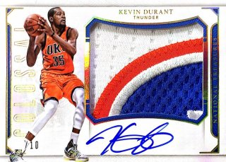 2015-16 PANINI NATIONAL TREASURES Colossal Jersey Auto Prime K.Durant 【10枚限定】 / MINT新宿店593 NT15様