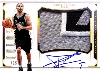 2015-16 PANINI NATIONAL TREASURES Colossal Jersey Auto Prime J.Parker 【25枚限定】 / MINT新宿店594 NT15様