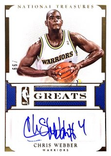 2015-16 PANINI NATIONAL TREASURES NBA Greats Signatures Chris Webber 【99枚限定】 / MINT新宿店595 NT15様