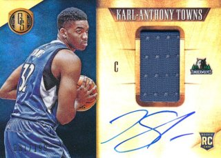 2015-16 PANINI GOLD STANDAED RC Jersey Auto Karl-Anthony Towns 【199枚】限定Rookie Star RS3様