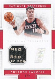2015-16 PANINI NATIONAL TREASURES Tag Patch Arvydas Sabonis 【55枚限定】Rookie Star RS50様