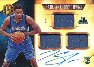 2015-16 PANINI GOLD STANDAED RC Jersey Auto Karl-Anthony Towns 【99枚限定】Rookie Star RS60様