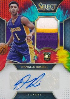 2015-16 PANINI SELECT RC Tye-Die Patch Auto D'Angelo Russell 【25枚限定】Rookie Star RS77様