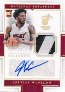 2015-16 PANINI NATIONAL TREASURES Patch Auto Justise Winslow 【25枚限定】Rookie Star RS78様