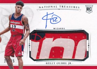 2015-16 PANINI NATIONAL TREASURES RC Patch Auto Silver Kelly Oubre Jr. 【25枚限定】Rookie Star RS78様