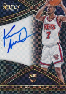 2015-16 PANINI SELECT Black Prizm Auto Kenny Anderson 【1枚限定】Rookie Star RS9様