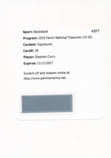 2015-16 PANINI NATIONAL TREASURES Auto Stephen Curry 【25枚限定】Rookie Star RS16様