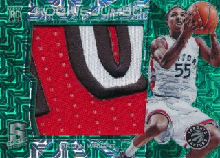 2015-16 PANINI SPECTRA Green Prizm Patch Delon Wright 【5枚限定】Rookie Star RS61様