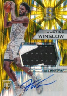 2015-16 PANINI SPECTRA RC Gold Prizm Patch Auto Justise Winslow 【10枚限定】Rookie Star RS61様