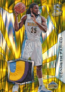 2015-16 PANINI SPECTRA RC Gold Prizm Patch Kenneth Faried 【10枚限定】Rookie Star RS61様