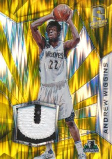 2015-16 PANINI SPECTRA Gold Prizm Patch Andrew Wiggins 【10枚限定】Rookie Star RS66様