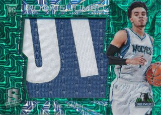 2015-16 PANINI SPECTRA RC Green Prizm Patch Tyus Jones 【5枚限定】Rookie Star RS66様