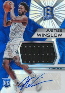 2015-16 PANINI SPECTRA RC Prizm Jersey Auto Justise Winslow Rookie Star RS66様