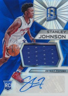 2015-16 PANINI SPECTRA RC Prizm Jersey Auto Stanley Johnson Rookie Star RS66様