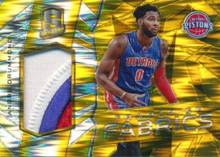 2015-16 PANINI SPECTRA Gold Prizm Patch Andre Drummond 【10枚限定】Rookie Star RS67様