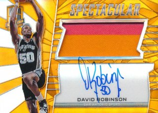 2015-16 PANINI SPECTRA Orange Prizm Patch Auto David Robinson 【25枚限定】Rookie Star RS67様