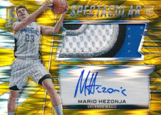 2015-16 PANINI SPECTRA RC Gold Prizm Patch Auto Mario Hezonja 【10枚限定】Rookie Star RS67様