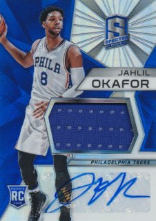 2015-16 PANINI SPECTRA RC Prizm Jersey Auto Jahlil Okafor Rookie Star RS67様