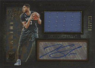 2015-16 Panini Black Gold Karl-Anthony Towns RC Jersey Auto 【199枚限定】 コレトレ WC様