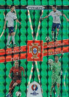 2016 PANINI EURO PRIZM Country Combinations Quads Green Prizms Portugal 【5枚限定】 ミント渋谷店 レイリー様