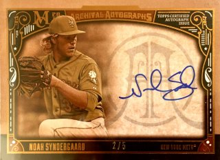 2016 TOPPS MUSEUM COLLECTION Archival Autographs Sepia Noah Syndergaard 【5枚限定】  渋谷店 決着 様
