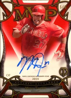 2016 TOPPS TRIBUTE Ageless Accolades Autographs Red Mike Trout 【5枚限定 Last No.!!】 ミント渋谷店 決着 様