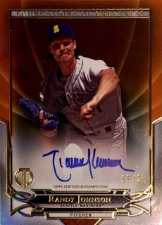 2016 TOPPS TRIBUTE Foundations of Greatness Autographs Orange Randy Johnson 【25枚限定】 ミント渋谷店 決着 様