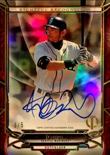 2016 TOPPS TRIBUTE Rightful Recognition Autographs Red Ichiro 【5枚限定】 ミント渋谷店 決着 様