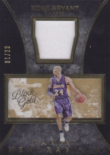 2015-16 Panini Black Gold Kobe Bryant Jersey card 99枚限定 ポニーランド MM様