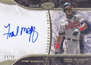 2016 Tier One Fred McGriff Gold Autograph card 50枚限定 ポニーランド YY様