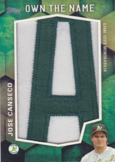2016 Topps 2 Jose Canseco Own The Name 1枚限定 ポニーランド H様