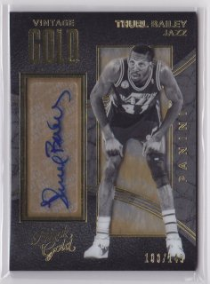 2015-16 Panini Black Gold Thurl Bailey Vintage Gold Signature 149枚限定 ポニーランド MM様