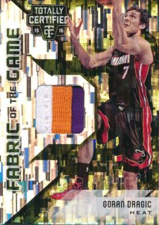 2015-16 PANINI TOTALLY CERTIFIED Camo Patch Goran Dragic【25枚限定】 Rookie Star RS2様