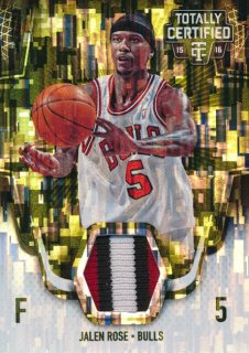 2015-16 PANINI TOTALLY CERTIFIED Camo Patch Jalen Rose 【25枚限定】Rookie Star RS2様