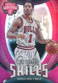 2015-16 PANINI TOTALLY CERTIFIED Skills Mirror Derrick Rose 【25枚限定】Rookie Star RS2様