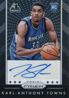 2015-16 PANINI PRIZM RC Auto Karl-Anthony Towns Rookie Star RS16様