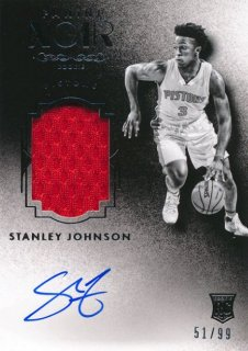 2015-16 PANINI Noir RC Patch Auto Stanley Johnson 【99枚限定】Rookie Star RS54様