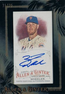 2016 TOPPS ALLEN & GINTER Black Framed Mini Auto Zack Wheeler 【25枚限定】 / MINT新宿店045 とみち様