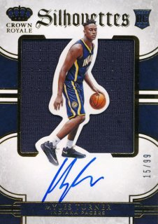 2015-16 PANINI PREFERRED RC Silhouettes Jersey Auto Myles Turner 【99枚限定】Rookie Star RS61様