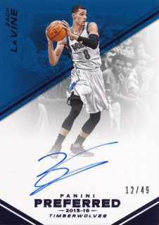 2015-16 PANINI PREFERRED Auto Zach LaVine 【49枚限定】Rookie Star RS71様