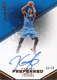 2015-16 PANINI PREFERRED Auto  Kevin Durant 【40枚限定】Rookie Star RS79様