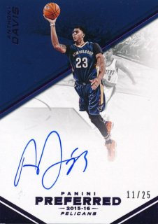 2015-16 PANINI PREFERRED Purple Auto Anthony Davis【25枚限定】 Rookie Star RS79様