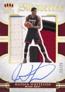 2015-16 PANINI PREFERRED Silhouettes Patch Auto Hassan Whiteside 【25枚限定】Rookie Star RS79様