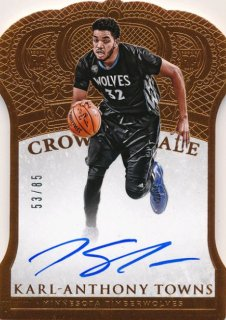 2015-16 PANINI PREFERRED RC Crown Royale Auto Karl-Anthony Towns【 85枚限定】Rookie Star RS9様