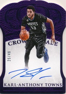 2015-16 PANINI PREFERRED RC Crown Royale Purple Auto Karl-Anthony Towns 【49枚限定】Rookie Star RS80様
