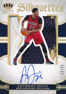 2015-16 PANINI PREFERRED Silhouettes Patch Auto Anthony Davis 【25枚限定】Rookie Star RS21様