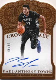 2015-16 PANINI PREFERRED RC Crown Royale Auto Karl-Anthony Towns 【85枚限定】Rookie Star RS50様