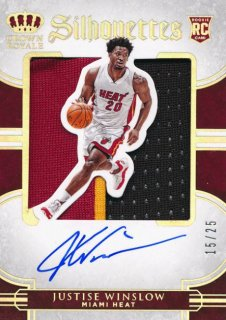 2015-16 PANINI PREFERRED RC Silhouettes Patch Auto Justise Winslow 【25枚限定】Rookie Star RS54様