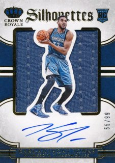 2015-16 PANINI PREFERRED RC Silhouettes Jersey Auto Karl-Anthony Towns 【99枚限定】Rookie Star RS79様